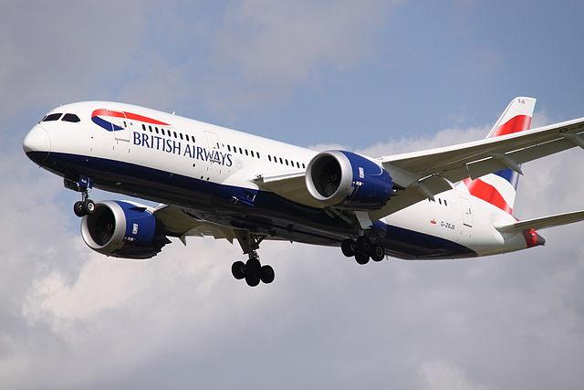 Một chiếc máy bay của hãng hàng không British Airways (Anh).