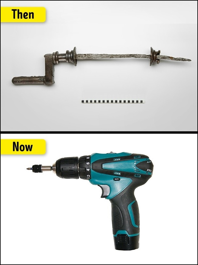 Những công cụ khoan thời đầu rất thủ công và không mấy hiệu quả.