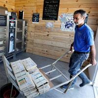 Máy bán hàu sống tự động ở Pháp