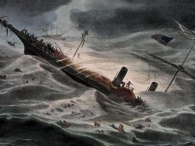 SS Central America chìm vào ngày 12/9 ngoài khơi Cape Hatteras, Bắc Carolina nước Mỹ.