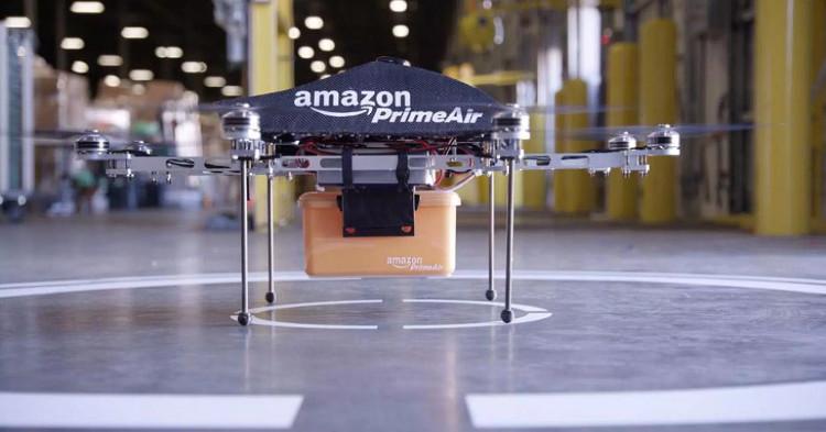 Máy bay không người lái được sử dụng trọng dịch vụ giao hàng của Amazon.