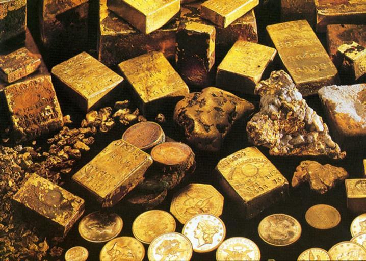 Một số vàng được trục vớt từ tàu SS Central America.