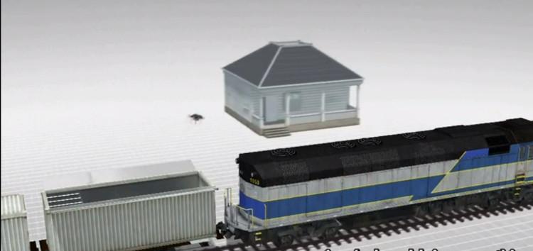 Phương tiện có thể đặt lên trên tàu hỏa đang di chuyển.