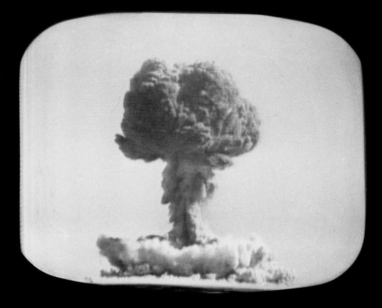Quả bom hạt nhân thử nghiệm thành công đầu tiên của Trung Quốc ngày 16/10/1964 tại sa mạc Takala Makan