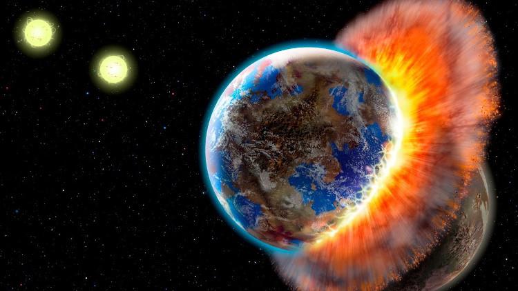 Thuyết âm mưu về thiên thạch chia đôi Trái đất.