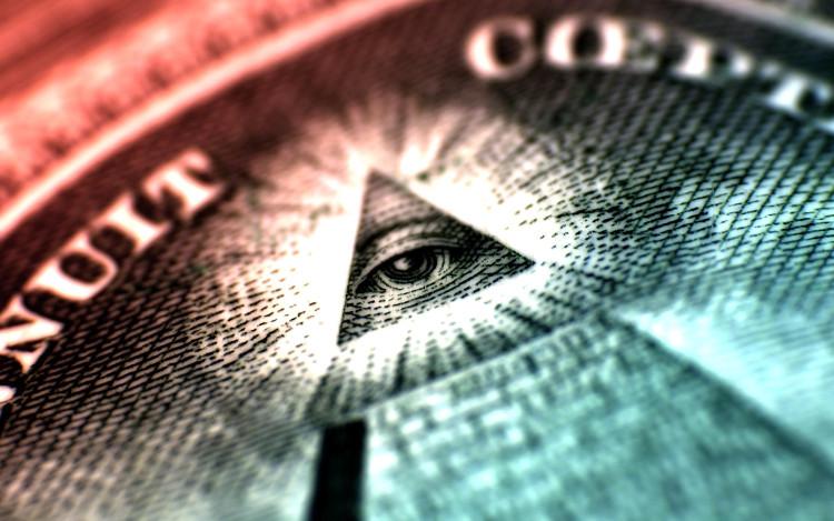 Biểu tượng của một tổ chức ngầm đối với các nhà thuyết âm mưu học.