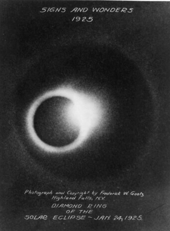 Hiện tượng nhật thực vào 24/1/1925