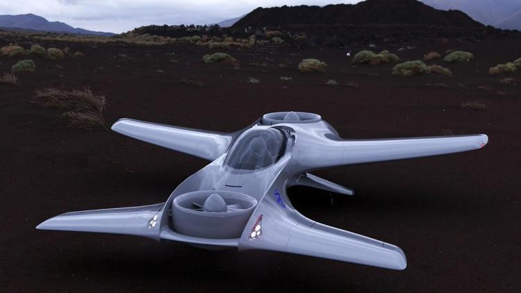 DR-7 là mẫu phương tiện bay cá nhân cất cánh thẳng đứng vận hành hoàn toàn bằng điện.