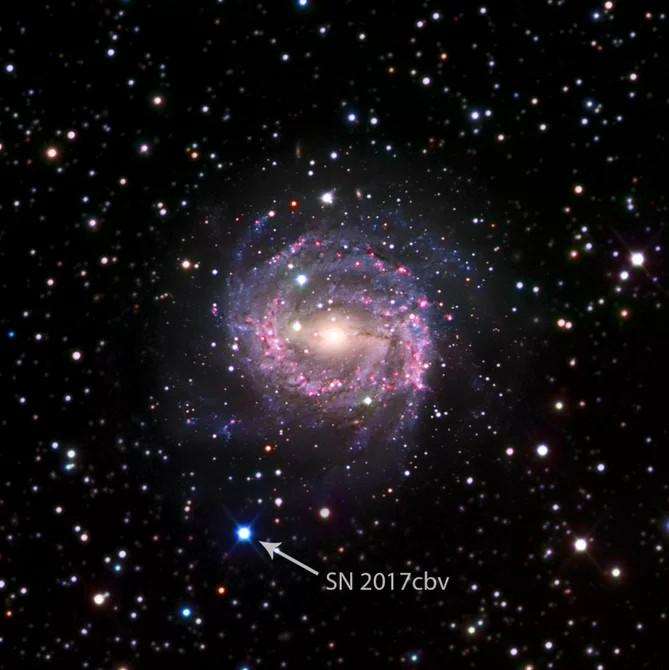 2017 cbv là một trong những siêu tân tinh gần chúng ta nhất được phát hiện