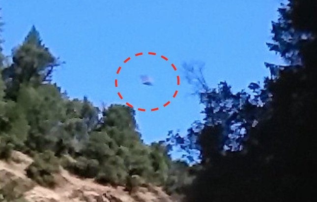 Hình ảnh được cho là UFO được chụp tại bang California (Mỹ) năm 2016.