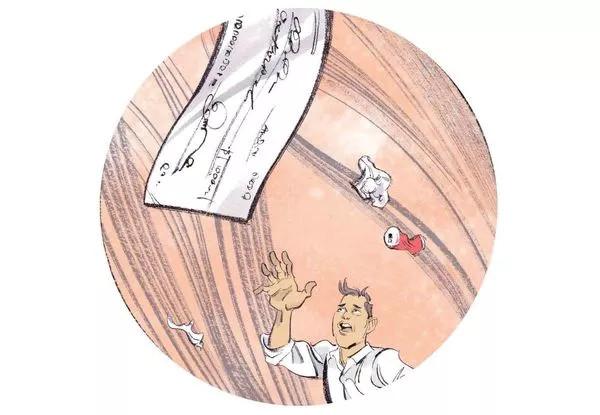 Tấm séc cá nhân bị thổi bay hơn 320km.