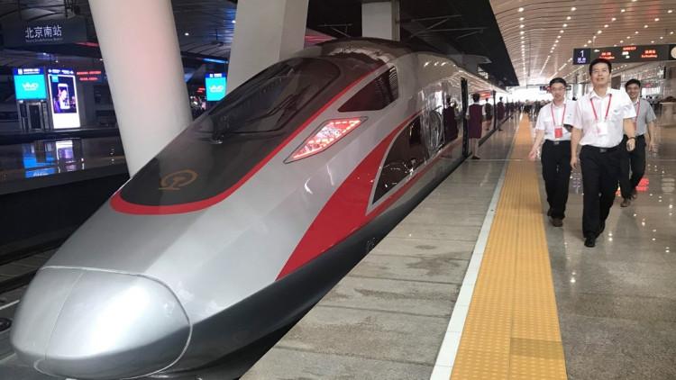 Cận cảnh đoàn tàu siêu tốc Bắc Kinh - Thượng Hải.