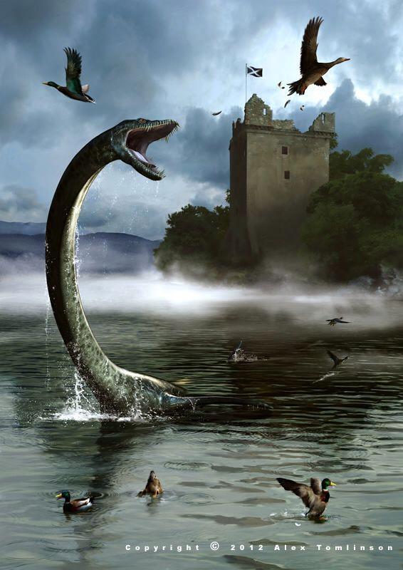 Hình ảnh con thủy quái khổng lồ Cirein Croin phá tan sự yên bình của làng quê.
