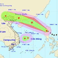 """Bão Pakhar và áp thấp nhiệt đới cùng đang """"đe dọa"""" Biển Đông"""