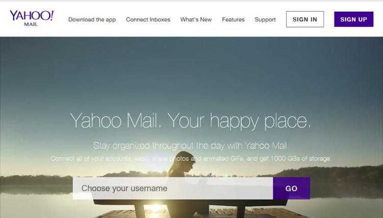 Nhận tài khoản email miễn phí từ Yahoo! Mail.