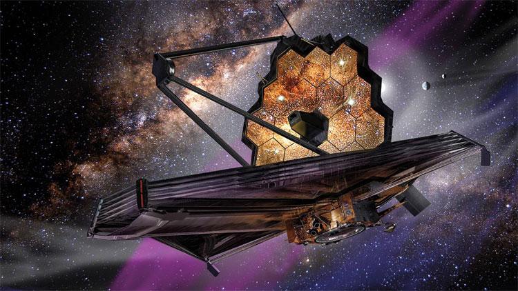 Kính viễn vọng không gian James Webb.