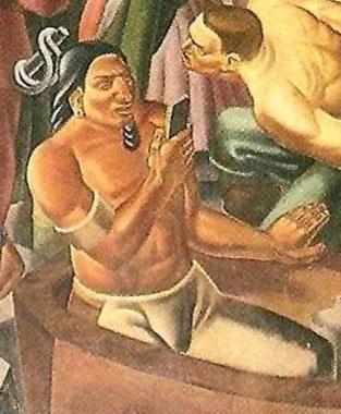 Người đàn ông cầm trên tay đồ vật giống hệt smartphone.