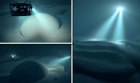 Vật thể lạ bí ẩn dưới biển sâu.