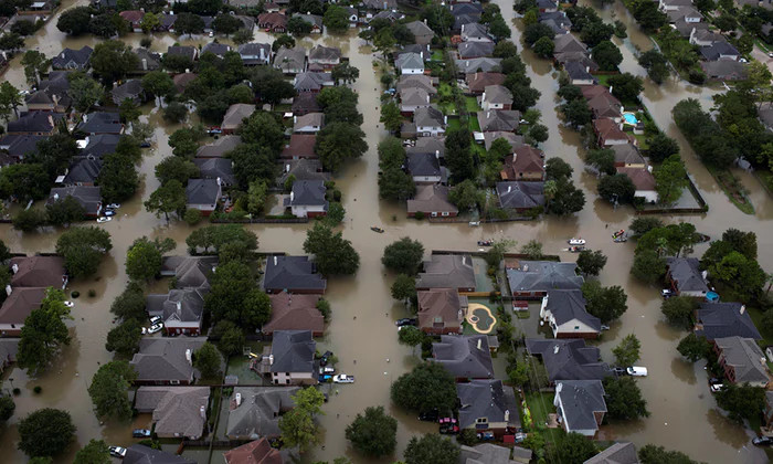 Nhà ngập ở tây bắc Houston.