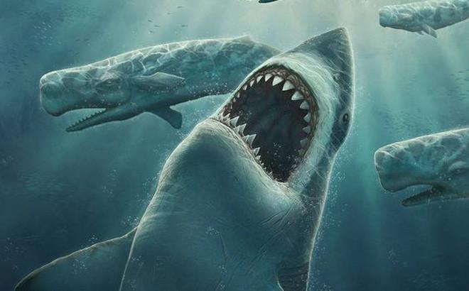 Siêu cá mập Megalodon.