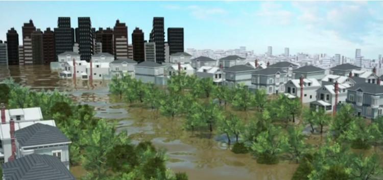 Nước cũng không thể bốc hơi nhanh chóng do khí hậu ẩm ướt ở Houston.