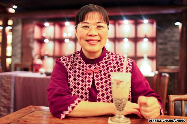 Cô Lâm Tú Huệ, người sáng tạo ra trà sữa trân châu.