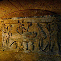 Chú lừa con phát hiện ra di tích hầm mộ nghìn năm