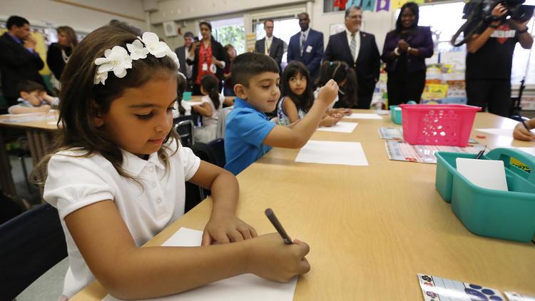 Ngày đầu tiên của năm học mới tại Mỹ cũng là ngày học bình thường.