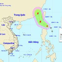 Áp thấp nhiệt đới khả năng mạnh thành bão đang hướng vào Biển Đông