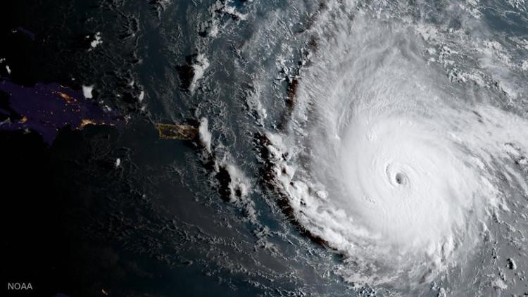 Ảnh vệ tinh chụp bão Irma hôm 5/9 đ