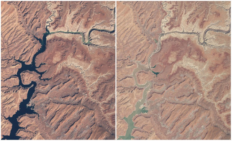 Hồ Powell tại Arizona và Utah