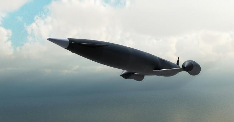 Minh họa siêu máy bay tốc độ gấp 25 lần tốc độ âm thanh.