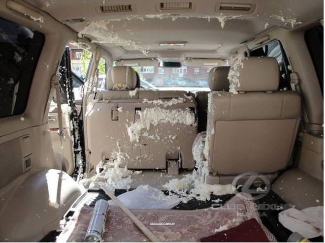 Nhiệt độ trong xe đã tăng cao khiến sữa chua lên men, sản sinh ra khí và phát nổ