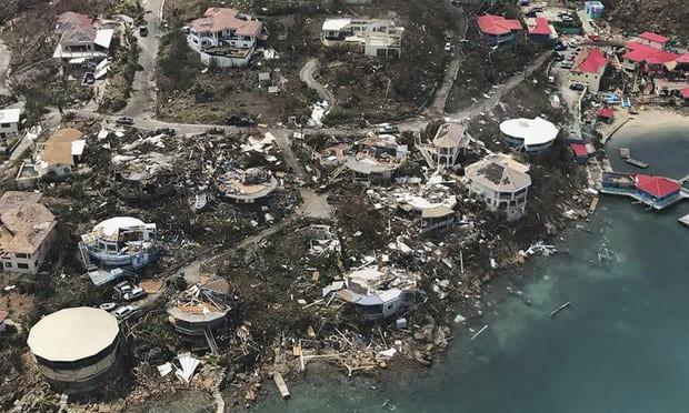 Sự tàn phá mà bão Irma gây ra trước đó cho quần đảo Virgin thuộc Mỹ