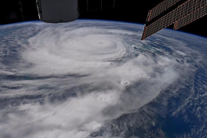 Bão Irma nhìn từ vũ trụ