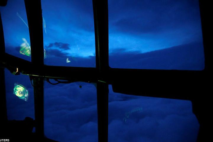 Mắt bão Irma nhìn từ máy bay trên không