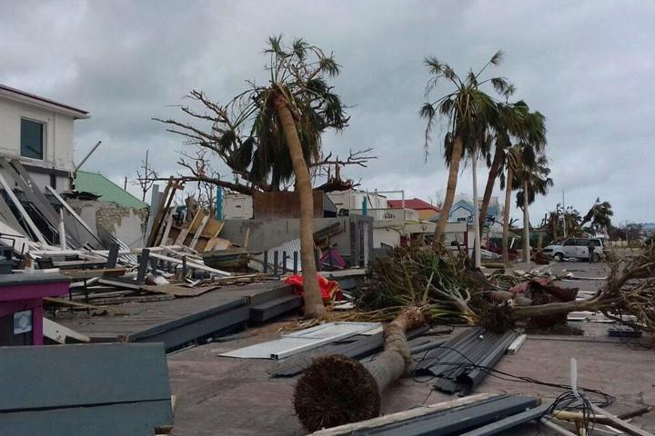 Cảnh đổ nát do bão Irma ở vùng Caribe
