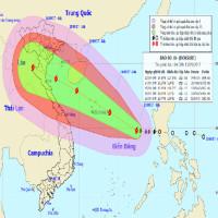 Áp thấp nhiệt đới đã mạnh lên thành bão số 10