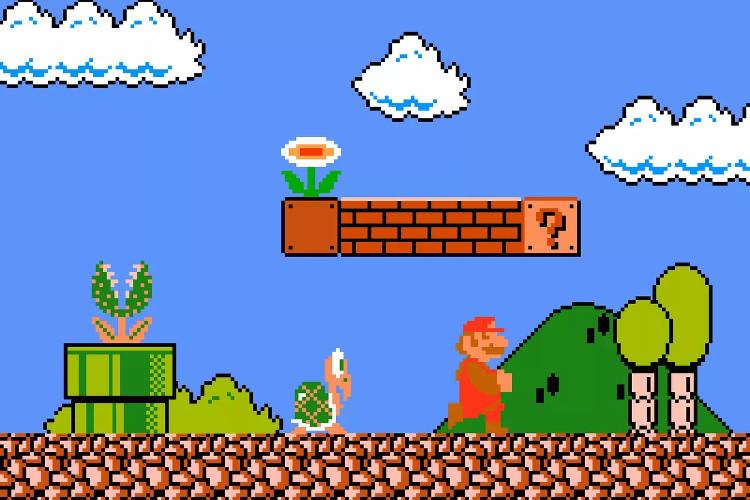 Game Mario kinh điển.