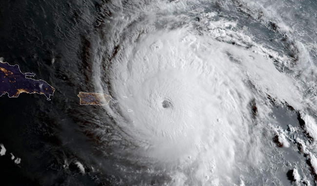 Hình ảnh bão Irma qua ảnh vệ tinh.