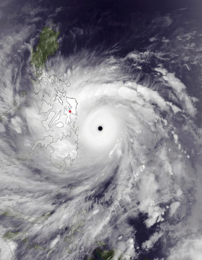Bão Haiyan lúc mạnh nhất.