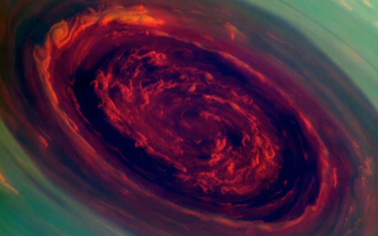 Tàu Cassini gửi hình ảnh cơn bão trên sao Thổ về Trái Đất.