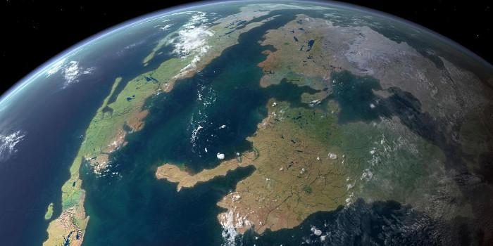 Lớp vỏ ngoài của Trái đất được chia thành nhiều mảng tách rời.