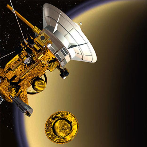 Tàu thám hiểm Huygens tách khỏi tàu mẹ vào ngày 25/12/2004.