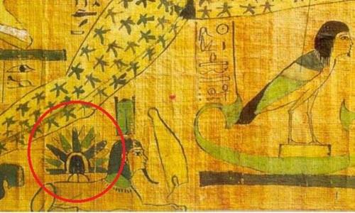Vật thể bí ẩn được vẽ trong cuộn giấy cói Djedkhonsuiefankh.