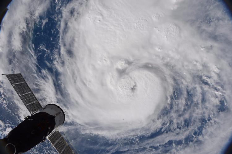 Bão Harvey nhìn từ Trạm Vũ trụ Quốc tế.