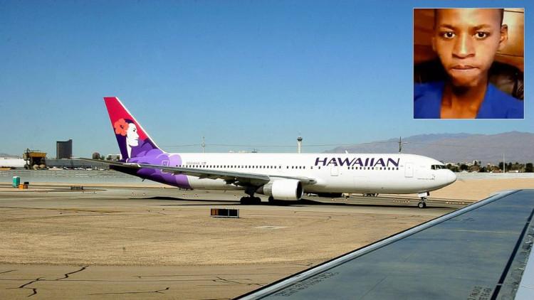 ahya Abdi đã trốn trong hốc bánh xe máy bay, bay từ San Jose, California đi Kahului.