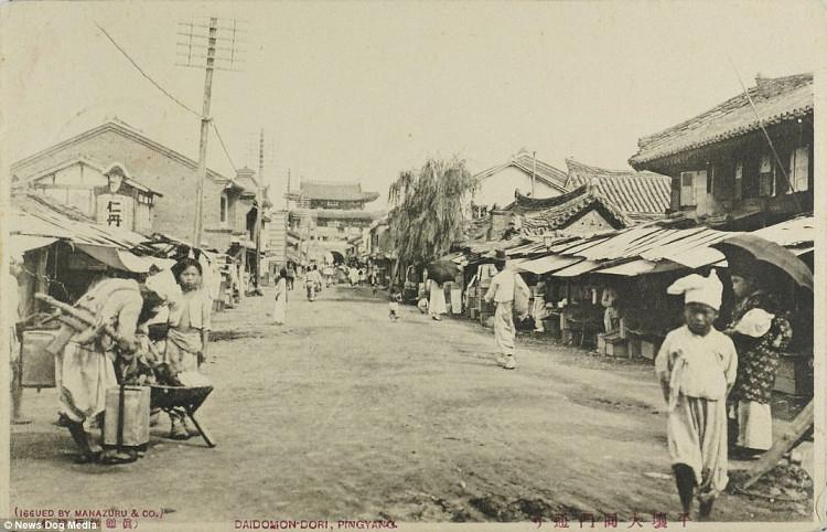 Ảnh chụp con phố Taedongmun thuộc Bình Nhưỡng ngày nay.