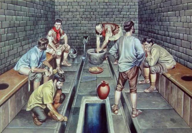Hệ thống nhà vệ sinh công cộng của người La Mã.