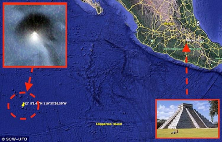 Hình ảnh kim tự tháp ngầm dưới đại dương